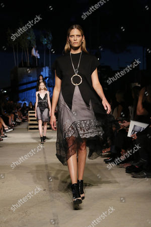Stock Picture of Frankie Rayder on the catwalk