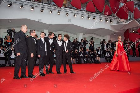 Elizabeth Banks and Michel Franco, Rodolfo Cova, Luis Silva, Lorenzo Vigas, Alfredo Castro and producer Guillermo Arriaga