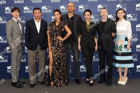 Stock Image of Guan Hu, Feng Xiaogang, Li Yifeng, Xu Qing, Liang Jing, Liu Hua, Shang Yuxian