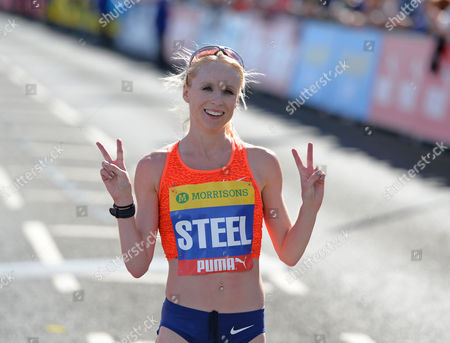 Second place Gemma Steel poses for a picture during the Morrisons Great North Run 2015 at South Shields