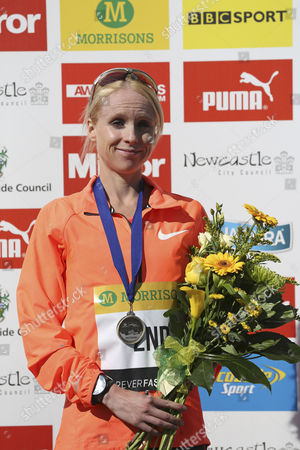 Gemma Steel, 2nd place in the women's elite race at the Great North Run, in South Shields, England. The Great North Run is an annual half-marathon.