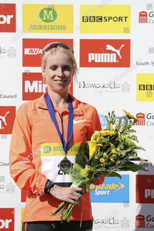 Gemma Steel, who finished in 2nd place in women's elite race at the Great North Run, in South Shields, England. The Great North Run is an annual half-marathon.