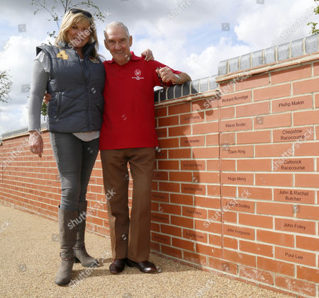 Finding there named brick-CORONATION STREET STAR CLAIR KING MEETS JACK BERRY (Injured Jockey Fund) at his newley opened JACK BERRY HOUSE (for the rehabilitation of Injured Jockeys) ON MALTON OPEN DAY 2015