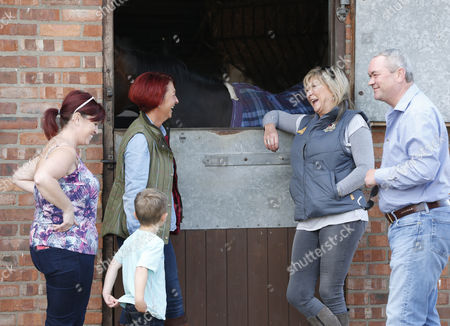 CORONATION STREET STAR CLAIR KING visits her racehorse Swiftly Done at Declan Carroll's Yard in Malton MALTON OPEN DAY 2015