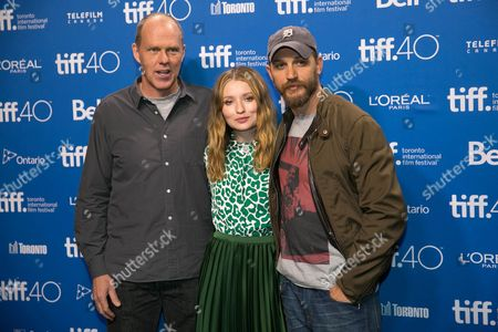 Brian Helgeland, Emily Browning and Tom Hardy