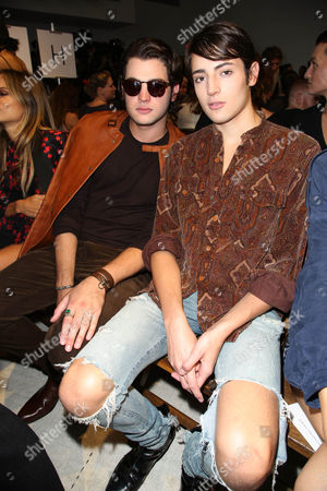 Peter Brant Jr and Harry Brant in the front row