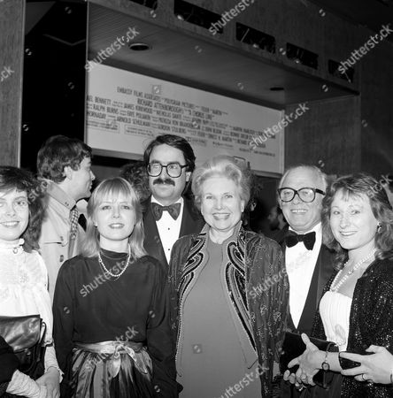 Left to right - front row: Charlotte Attenborough, Jane Holland, Lady Attenborough Left to right - back row: Sir Richard Attenborough