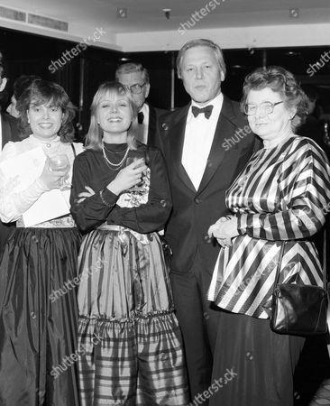 Left to right - Charlotte Attenborough, Mrs Jane Holland, David Attenborough and wife Sheila Sim