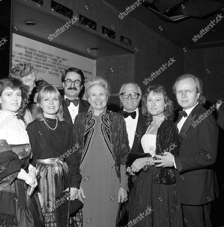 Left to right - front row: Charlotte Attenborough, Jane Holland, Lady Attenborough, Michael Attenborough back row: Sir Richard Attenborough