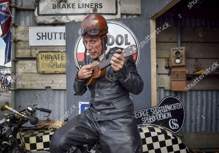 Graeme Hardy a tribute act to the George Formby  film character George Shutterworth the Speed Demon.