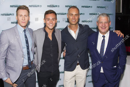Dustin Lance Black, Tom Daley, Michael Le Poer Trench and Cameron Mackintosh