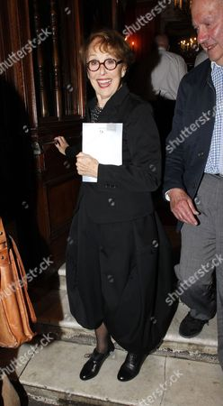 Una Stubbs at the after party at the National Portrait Gallery