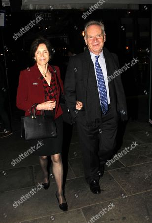 Jeffrey Archer and Lady Mary Archer at the after party at the National Portrait Gallery