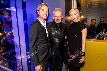 Markus Langes Swarovski with wife Julia, Jean Paul Gaultier
