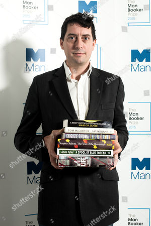 Editorial photo of The MAN Booker Prize shortlist announcement, London, Britain - 15 Sept 2015