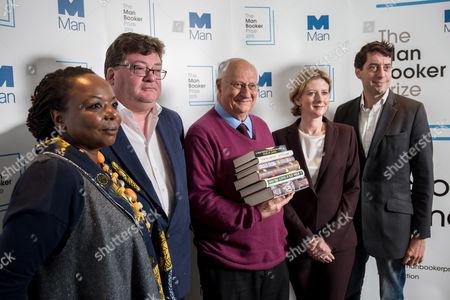 Stock Photo of Michael Wood, Ellah Wakatama Allfrey, John Burnside, Sam Leith and Frances Osborne