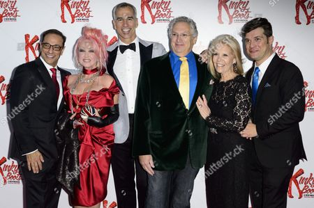 Hal Luftig, Cyndi Lauper, Jerry Mitchell, Harvey Fierstein, Daryl Roth and Stephen Oremus