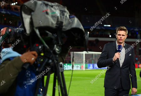 Stock Picture of BT Sport presenter Jake Humphries during the UEFA Champions League Group B match between PSV Eindhoven and Manchester United played at The Philips Stadion, Eindhoven