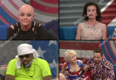 Gail Porter, Janice Dickinson, FatMan Scoop and Stevi Ritchie and Chloe Jasmine wait to find out who has been evicted