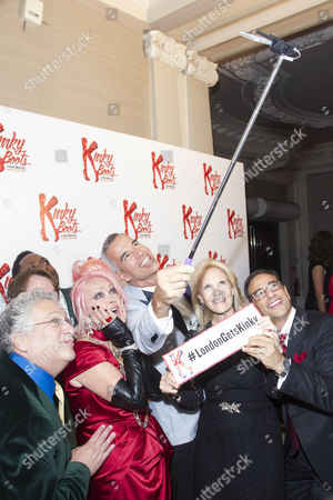 Harvey Fierstein (Author), Killian Donnelly (Charlie Price), Matt Henry (Lola), Cyndi Lauper (Music/Lyrics), Jerry Mitchell (Director/Choreographer), Daryl Roth (Producer) and Hal Luftig (Producer)