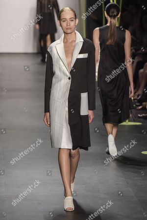 Editorial picture of Lie Sang-Bong show, Spring Summer 2016, New York Fashion Week, America - 13 Sep 2015