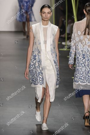 Editorial photo of Lie Sang-Bong show, Spring Summer 2016, New York Fashion Week, America - 13 Sep 2015