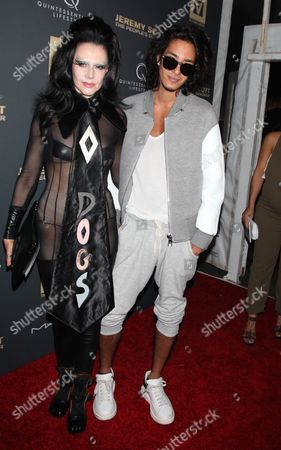 Stock Image of Susanne Bartsch and Ansoni