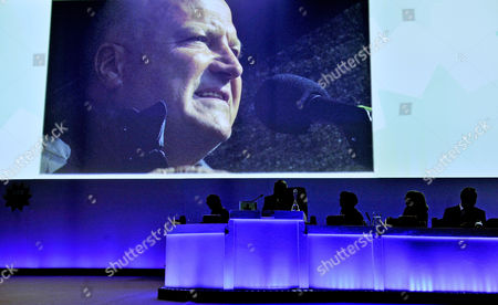 Editorial photo of Tuc Congress At Bt Convention Centre Liverpool Merseyside. - Tuc Tribute To The Late Rmt Gen Sec. Bob Crow (1961-2014).