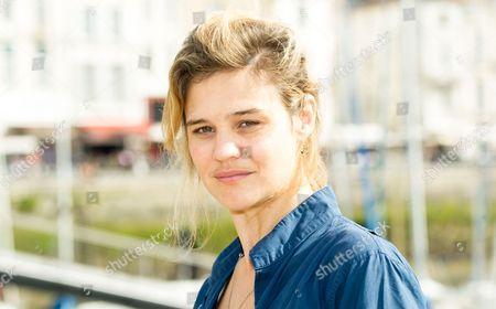 Marie Denarnaud at the 'Mystere a la Tour Eiffel' photocall