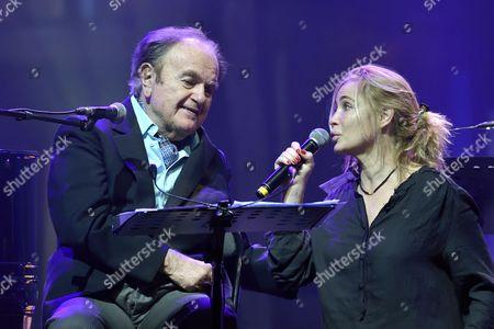 Guy Beart and daughter Emmanuelle Beart