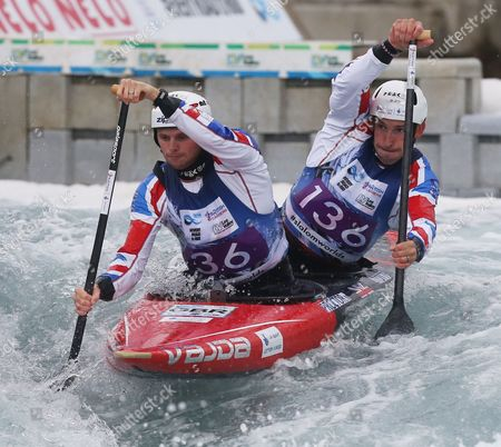Stock Image of Great Britain's Mark PROCTOR  ( Front ) and  Etienne STOTT Canoe Doubles(KC2) men 1st Run