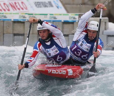 Great Britain's Mark PROCTOR  ( Front ) and  Etienne STOTT Canoe Doubles(KC2) men 1st Run