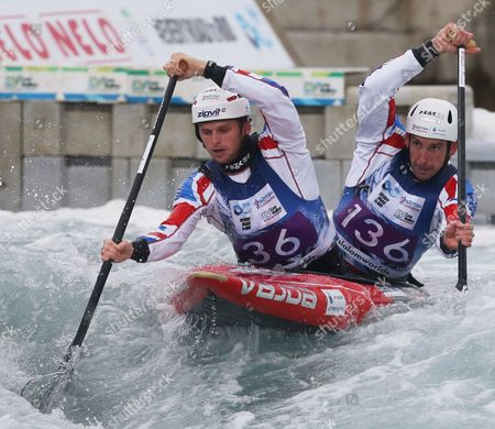 Stock Picture of Great Britain's Mark PROCTOR  ( Front ) and  Etienne STOTT Canoe Doubles(KC2) men 1st Run