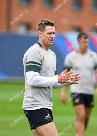 Springboks captain Jean de Villiers during the South Africa Training Session in preparation for the Rugby World Cup at Eastbourne College, Eastbourne