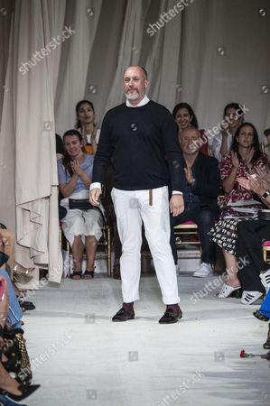 Peter Copping on the catwalk