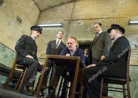 Stock Picture of Ryan Pope, Reece Shearsmith as Syd,, Josef Davies as Hennessy, David Morrissey as Harry, Graeme Hawley