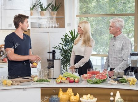 Andrew Cooper with Holly Willoughby and Phillip Schofield