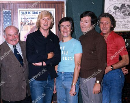 Terry Thomas, Chris Tarrant, Trevor East, Peter Tomlinson and Peter Matthews - 6th Sep 1976