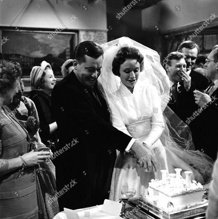 THE WEDDING OF CHARLES TINGWELL AND JANE DOWNS IN 'EMERGENCY WARD 10' - 1960