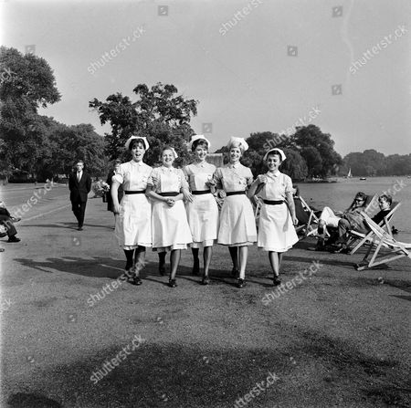 HARRIET HARPER, JANE ROSSINGTON, TRICIA MONEY, SHEILA FEARN AND MAJNI BIRO IN 'EMERGENCY WARD 10' - 1962