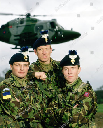 Stock Picture of DAVID GROVES, SHAUN DINGWALL AND BEN NEALON IN 'SOLDIER SOLDIER' - 1995