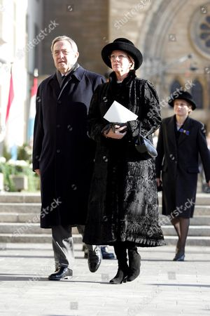 Ex King Constantine and Queen Margrethe