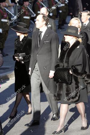 Princess Astrid ( l) with Prince Lorenz