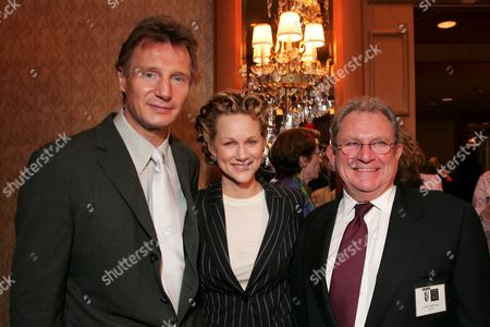 Liam Neeson, Laura Linney and Gary Dartnall