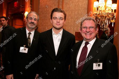 Leonardo DiCaprio and Gary Dartnall (r)