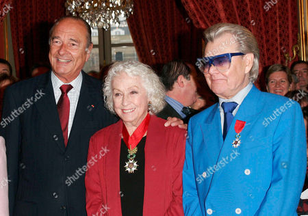 JACQUES CHIRAC, DANIELLE DARRIEUX AND MICHOU