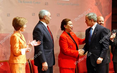 Laura Bush, Colin Powell, Alma Powell and George W Bush