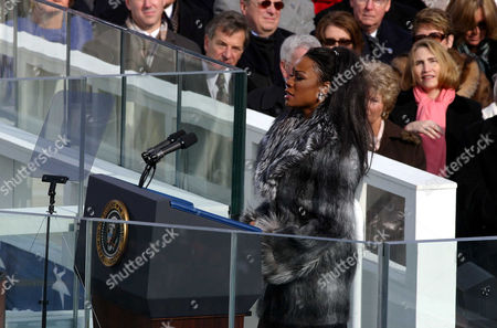 Mezzo Soprano Denyce Graves performing at the second presidential inauguration of George W Bush