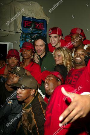David La Chapelle and Pamela Anderson with guests