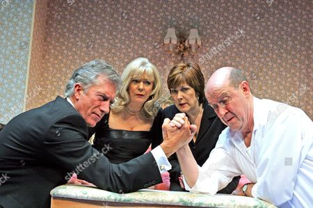 'Losing Louis' at the Hampstead Theatre Alison Steadman (Sheila) David Horovitch (Tony) Brian Protheroe (Reggie) Lynda Bellingham (Elizabeth)